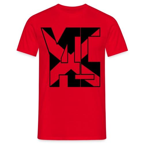 YES 45 Adult Mens T-shirt Black logo - Men's T-Shirt