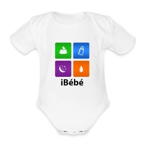 iBébé - Body bébé bio manches courtes