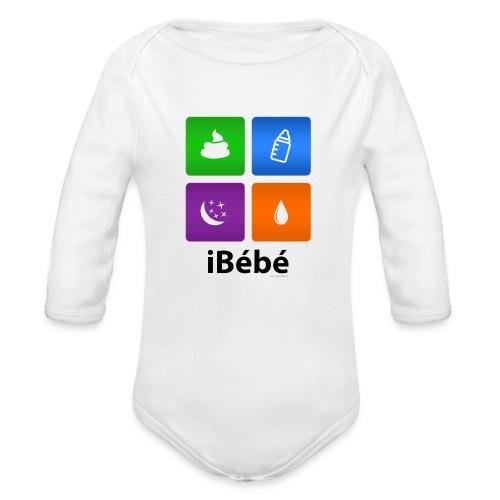 iBébé - Body bébé bio manches longues