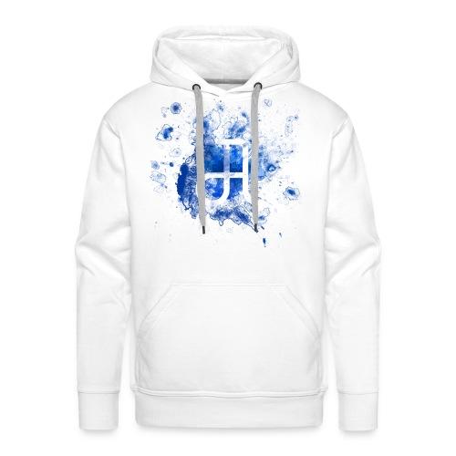 Glyphe Blau Hoodie ♂ - Männer Premium Hoodie