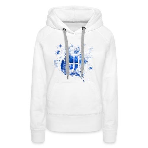 Glyphe Blau Hoodie ♀ - Frauen Premium Hoodie
