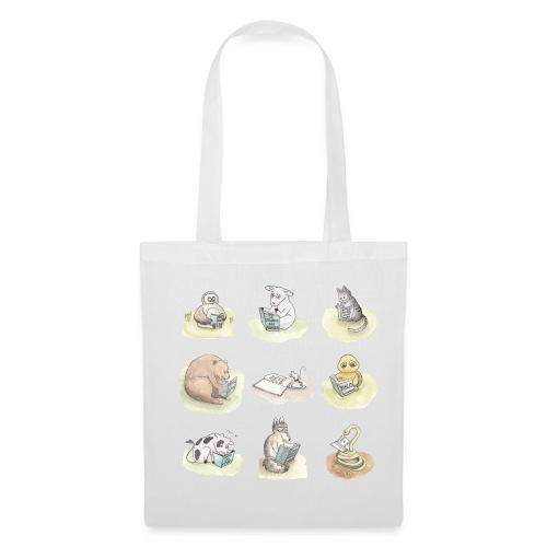 Le it-bag animals reading - Tote Bag