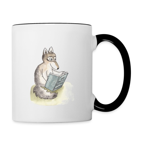 Mug animals reading - Mug contrasté