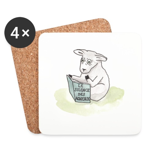 Sous-verres animals reading - mouton - Dessous de verre (lot de 4)