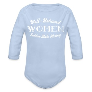 Well-Behaved Long-Sleeve One Piece - Organic Longsleeve Baby Bodysuit