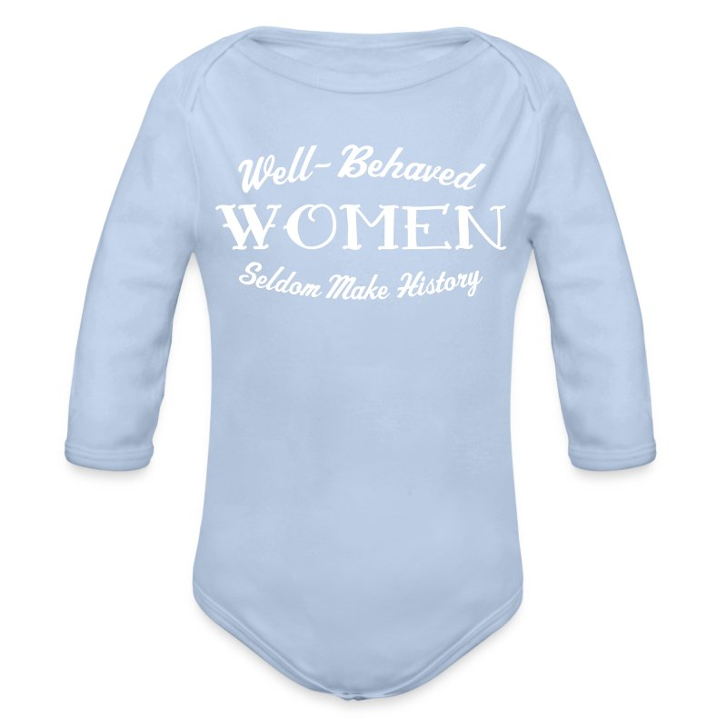 Well-Behaved Long-Sleeve One Piece - Longsleeve Baby Bodysuit