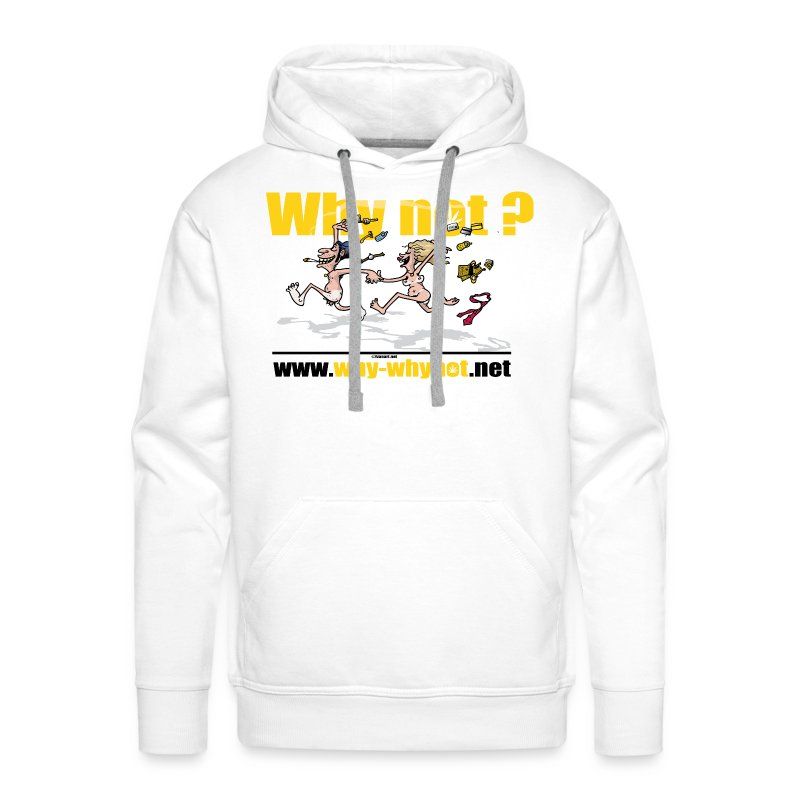 Whynot-undress from stress - Men's Premium Hoodie