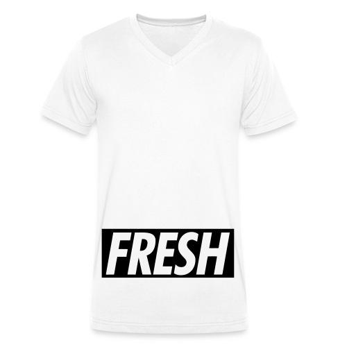Fresh - Männer Bio-T-Shirt mit V-Ausschnitt von Stanley & Stella