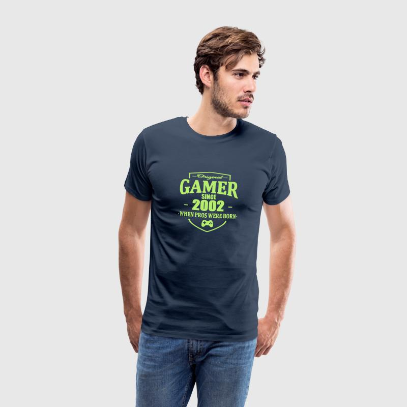 Gamer Since 2002 T-shirts - Herre premium T-shirt