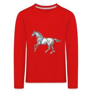 Kinder T-Shirt *Pferd* - Kinder Premium Langarmshirt