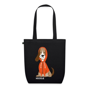 Hoodie Tote Bag Black: Dog - EarthPositive Tote Bag