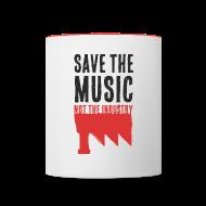 Bouteilles et Tasses ~ Tasse bicolore ~ Save the Music (Mug)