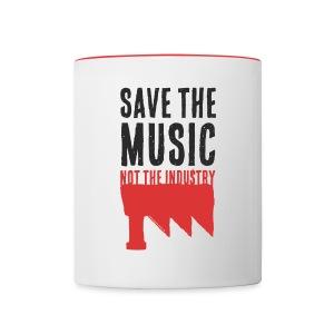 Save the Music (Mug) - Mug contrasté