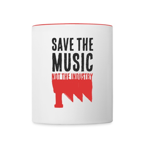 Save the Music (Mug) - Tasse bicolore