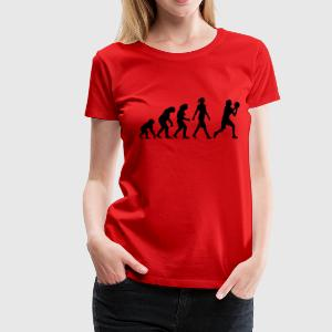evolution_of_woman_bsketball_112014_a_1c T-Shirts - Frauen Premium T-Shirt