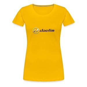 Daelim Logo und Schriftzug auf TShirt (Frauen) - Frauen Premium T-Shirt