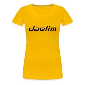 Daelim Schriftzug auf TShirt (Frauen) - Frauen Premium T-Shirt
