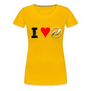 I Love Daelim TShirt (Daelim Logo, Frauen) - Frauen Premium T-Shirt