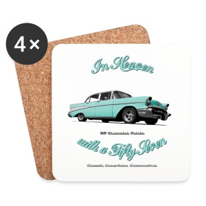 Coasters (set of 4) | In hhHeaven with a 57  | Classic American Automotive - Coasters (set of 4)