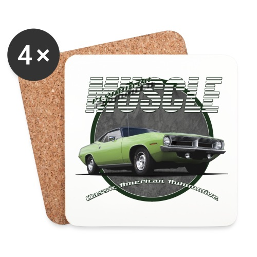 Coasters (set of 4) | Plymouth Muscle | Classic American Automotive - Coasters (set of 4)