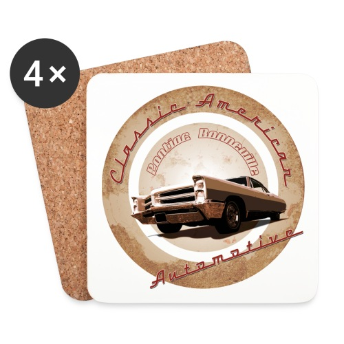 Coasters (set of 4) | Pontiac Bonneville | Classic American Automotive - Coasters (set of 4)