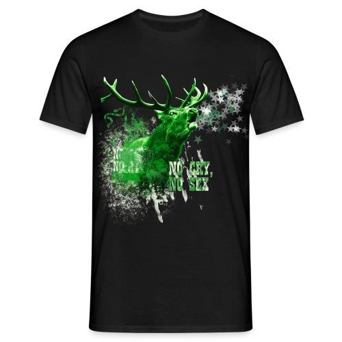 hirsch grün - Männer T-Shirt