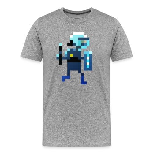 1700 T-Shirt laufender Polizist - Männer Premium T-Shirt