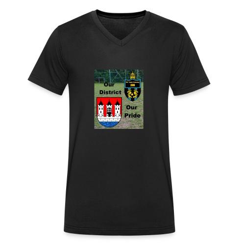 Our District Our Pride V-Ausschnitt T-Shirt - Männer Bio-T-Shirt mit V-Ausschnitt von Stanley & Stella