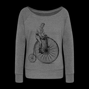 Old bike - Women's Boat Neck Long Sleeve Top