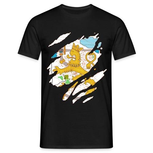 Karttaleijona värillinen - Miesten t-paita