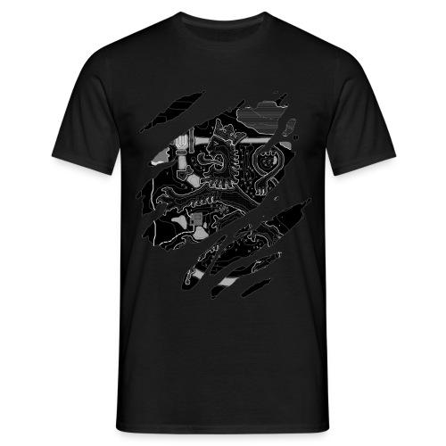 Karttaleijona mustavalkoinen - Miesten t-paita