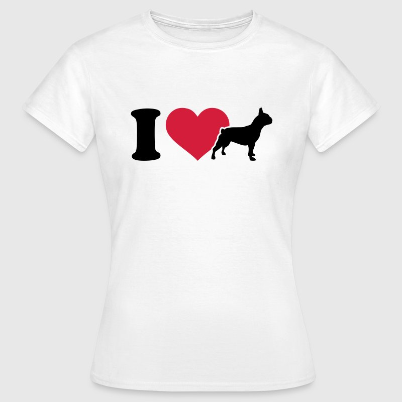 I love Bulldogge T-Shirts - Frauen T-Shirt