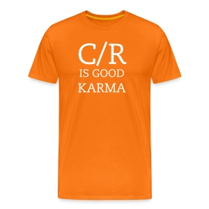 KARMA Orange - Premium-T-shirt herr