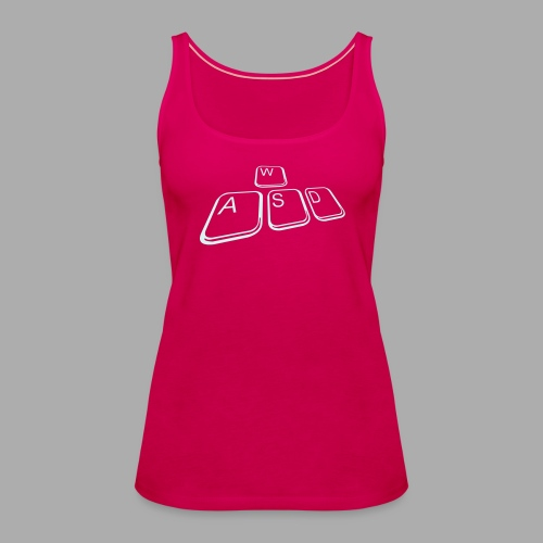 WASD Top - Flexdruck Silber - Frauen Premium Tank Top