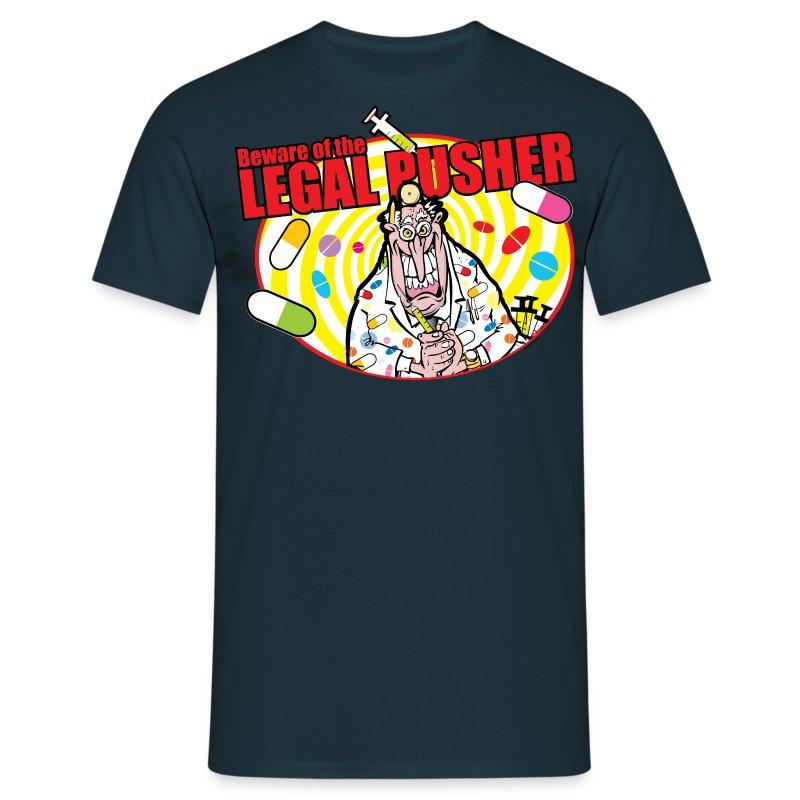 legalpusher-oval - Men's T-Shirt