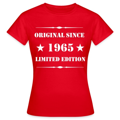 Girls Shirt mit Aufdruck, 1965 Limited Edition - Frauen T-Shirt