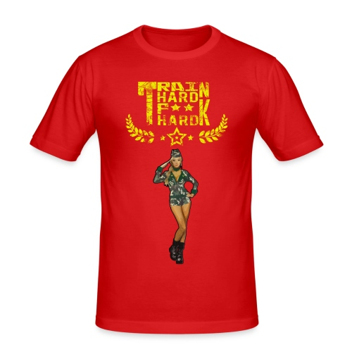 Train hard - T-shirt près du corps Homme