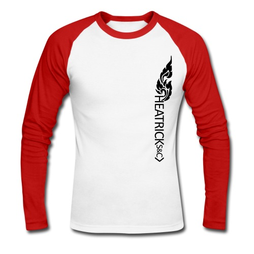 Baseball Style Long Sleeve Shirt, Black Logo - Men's Long Sleeve Baseball T-Shirt