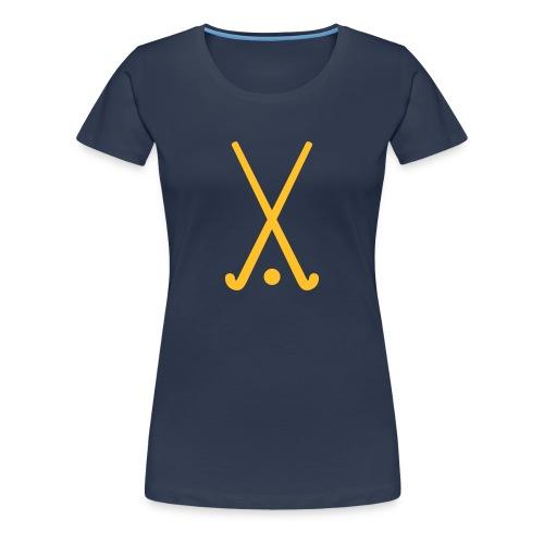 Ladies 'Hockey Sticks' Posh Tee! - Women's Premium T-Shirt