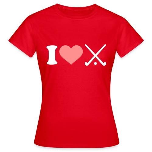 Ladies 'I love hockey' Tee! - Women's T-Shirt