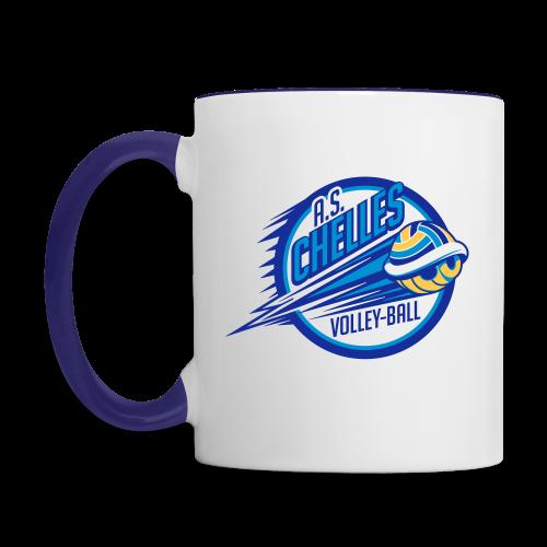 Mug Logo Blanc/Bleu - Mug contrasté