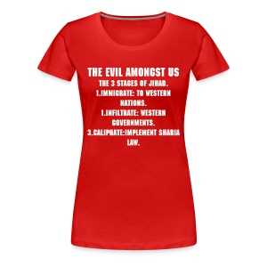 Women's Premium T-Shirt - THE EVIL AMONGST US