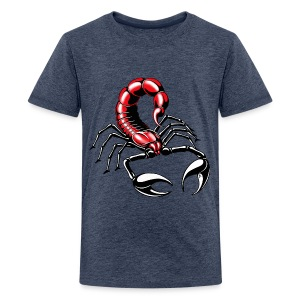Skorpion - rot - Teenager Premium T-Shirt