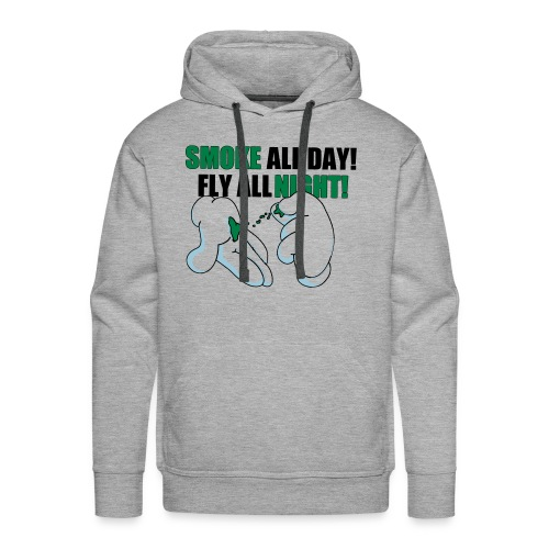 Smoke all day, Fly all night - Sweat-shirt à capuche Premium pour hommes