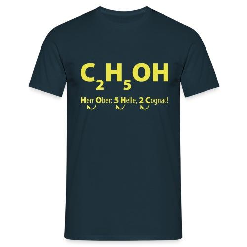 C2H5OH-ALKOHOL - Männer T-Shirt