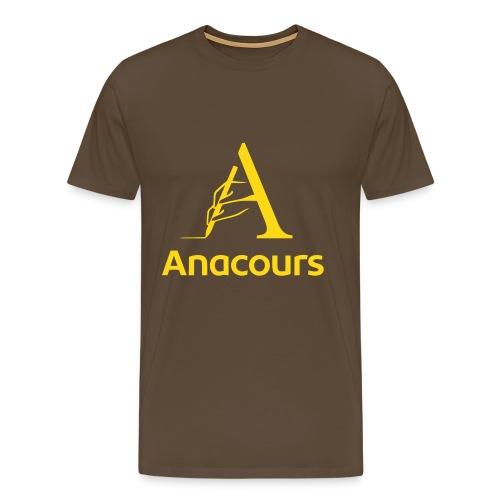 T-Shirt Anacours marron - T-shirt Premium Homme