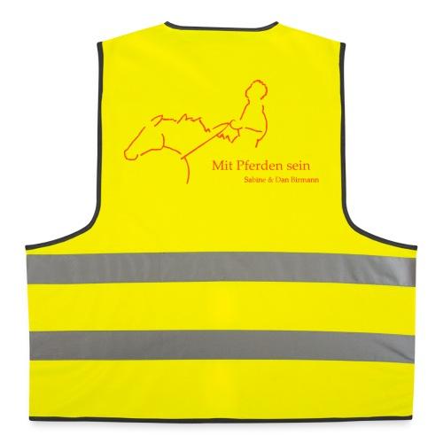 MPS Reiter & Schriftzug - Warnweste (Print: Neon Orange) - Warnweste