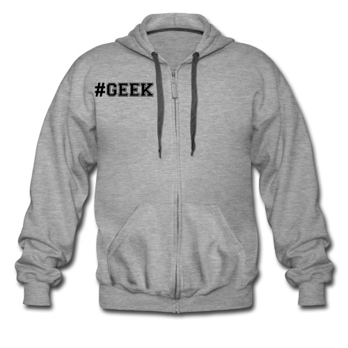 Sweat à capuche gris geek - Veste à capuche Premium Homme