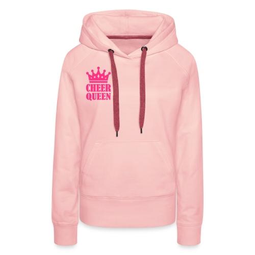 Sweat à capuche Rose Cheer Queen - Sweat-shirt à capuche Premium pour femmes