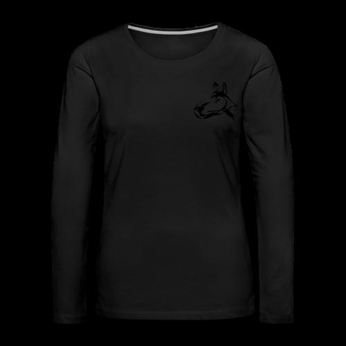 frauen langarm schwarz schwarz - Frauen Premium Langarmshirt